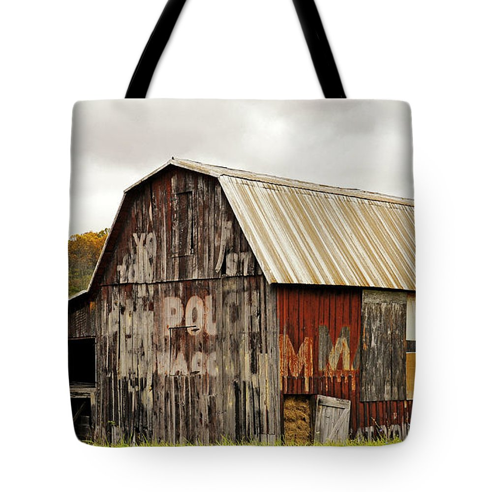 Photography Tote Bag featuring the photograph A Mail Pouch Barn In West Virginia by Kathleen K Parker