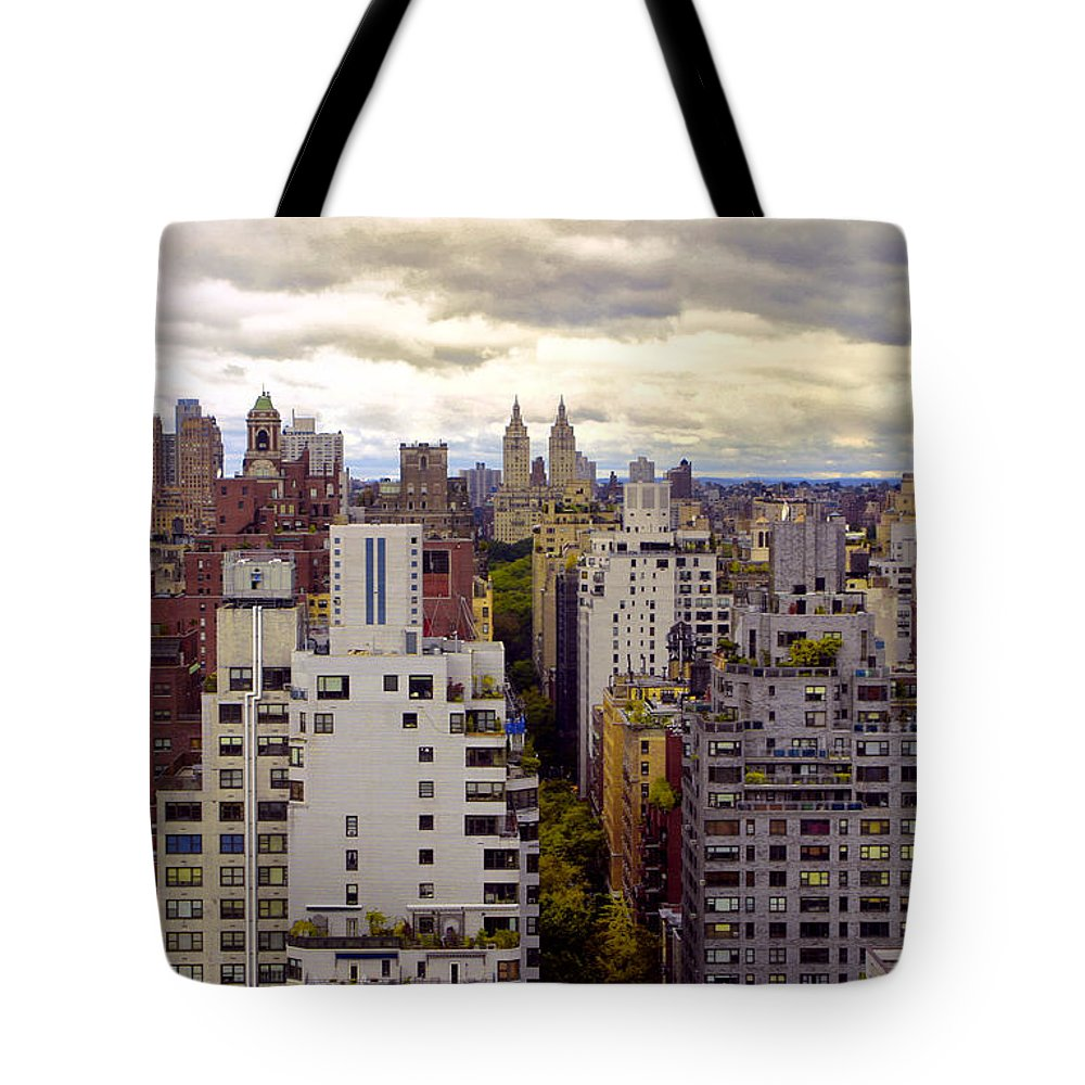 Manhattan Tote Bag featuring the photograph A Manhattan View by Madeline Ellis