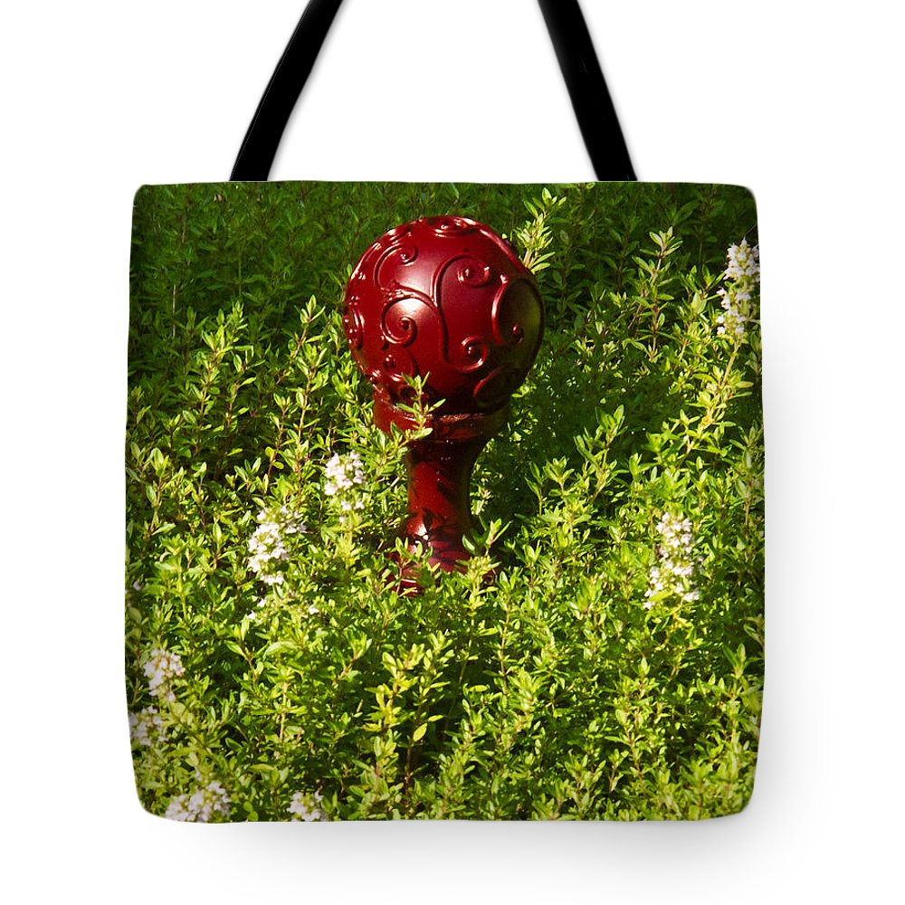 Orb Tote Bag featuring the photograph A Orb In Thyme by Douglas Barnett