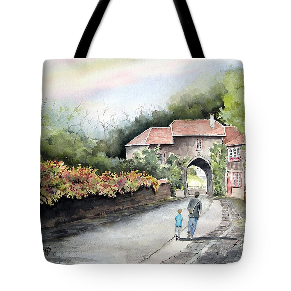 Peaceful Tote Bag featuring the painting A Peaceful Walk by Sam Sidders