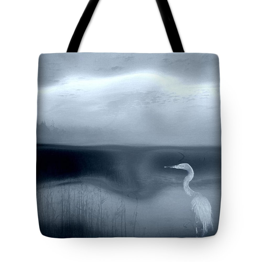Landscape Tote Bag featuring the digital art A Place For Rest by Gun Legler