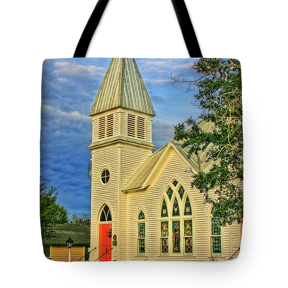 Church Tote Bag featuring the photograph A Place Of Peace by Joan Bertucci