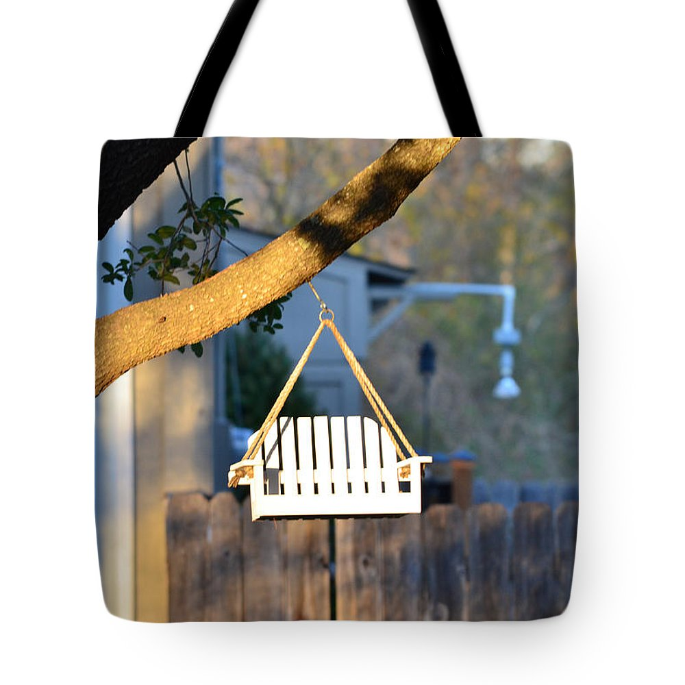Perch Tote Bag featuring the photograph A Place To Perch by Nikki Marie Smith
