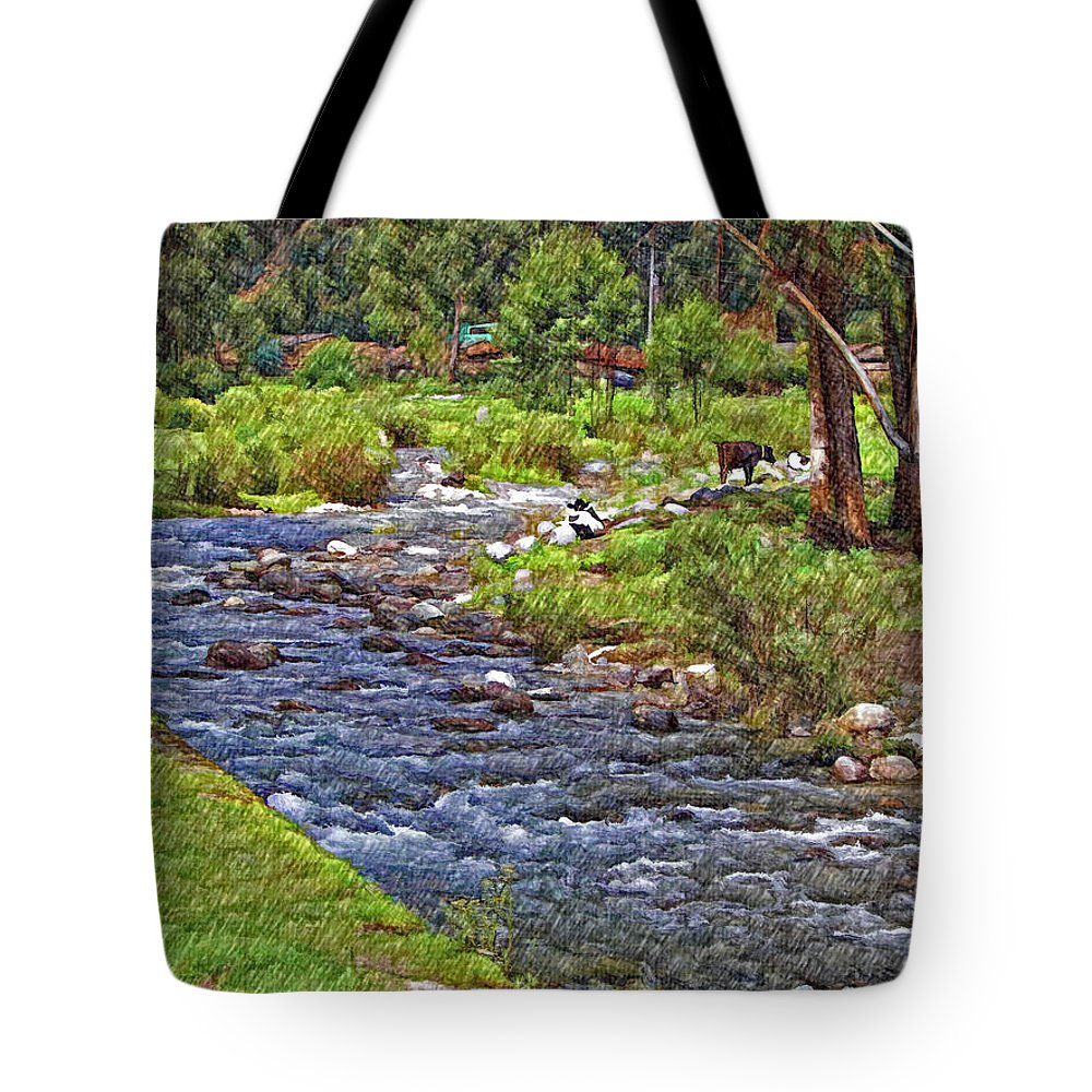 Peru Tote Bag featuring the photograph A Place Without Time Sketch by Steve Harrington