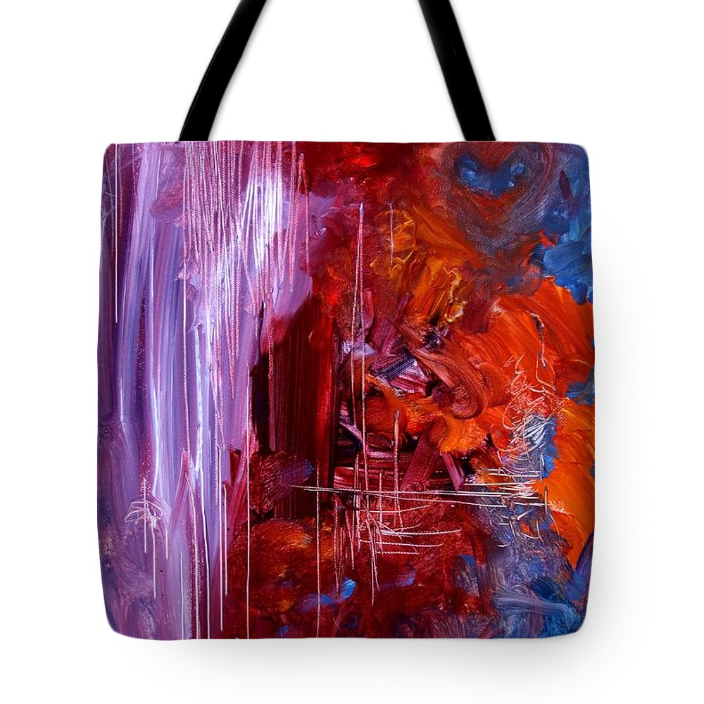 Abstract Tote Bag featuring the painting A Teacher's Sadness by J Vincent Scarpace