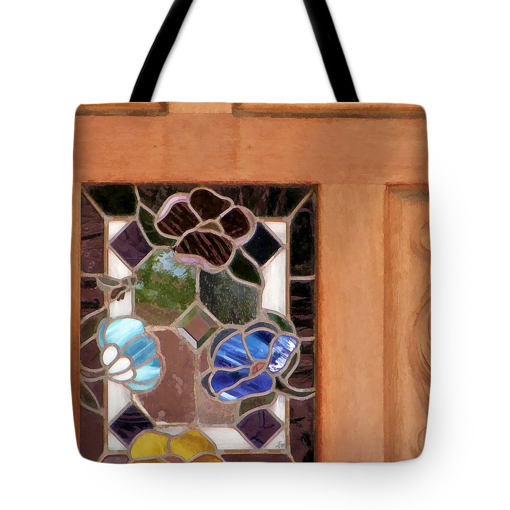 Stained Glass Tote Bag featuring the photograph A Touch Of Glass by Diane Wood