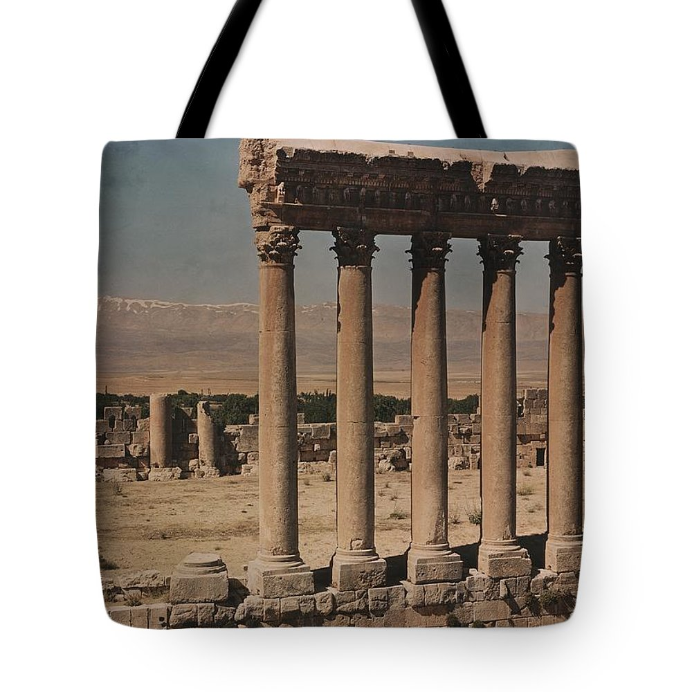 Day Tote Bag featuring the photograph A View Of More Ruins From The Columns by W. Robert Moore