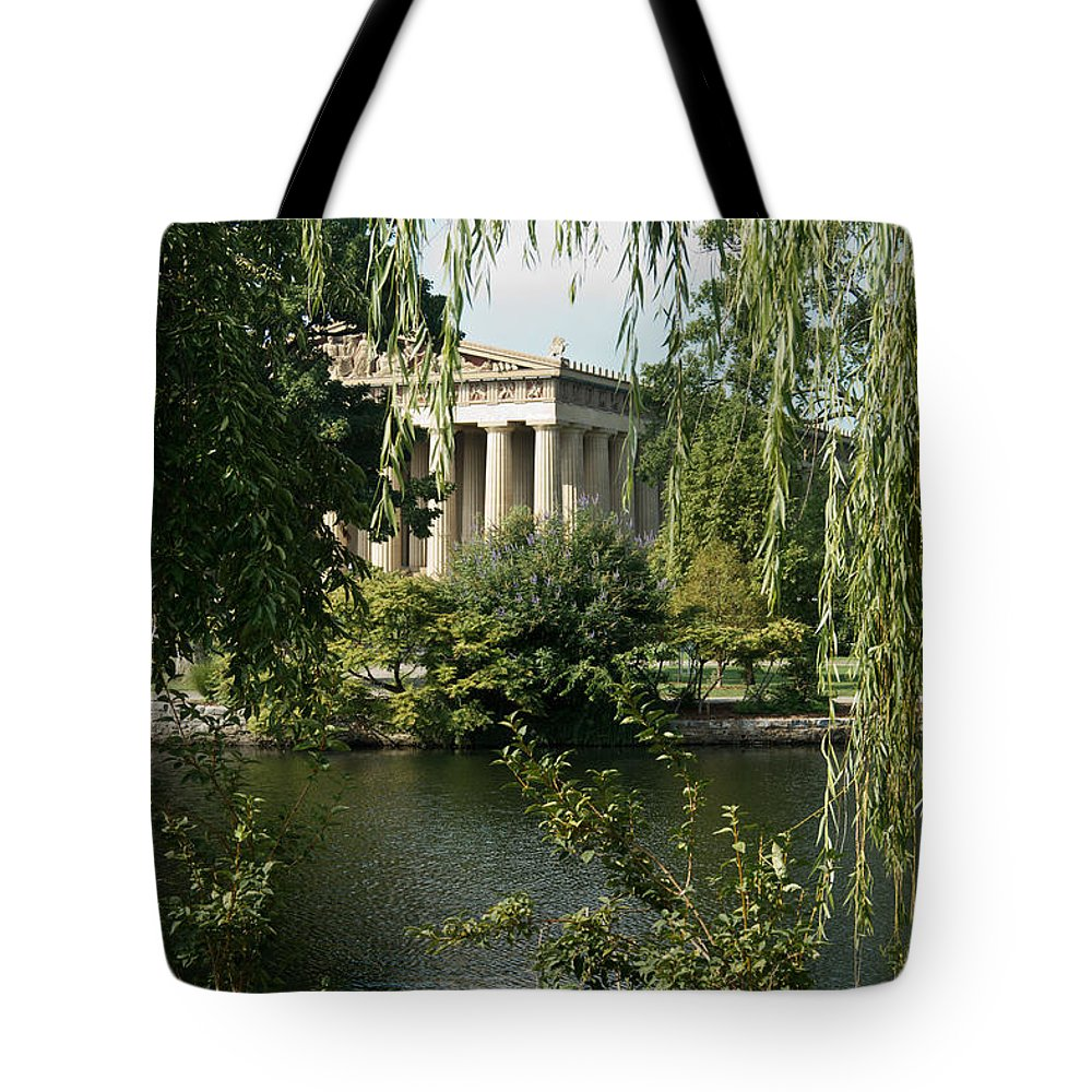 Parthenon Tote Bag featuring the photograph A View Of The Parthenon 6 by Douglas Barnett