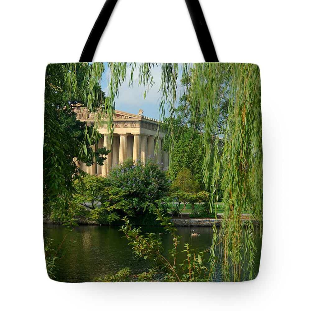 Parthenon Tote Bag featuring the photograph A View Of The Parthenon 8 by Douglas Barnett