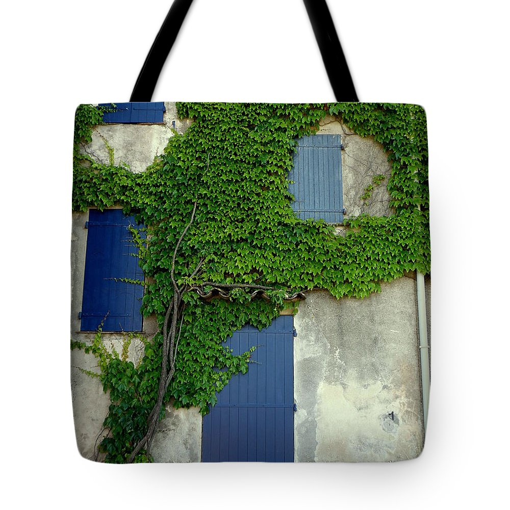 Doors And Windows Tote Bag featuring the photograph A Vine Hug by Lainie Wrightson