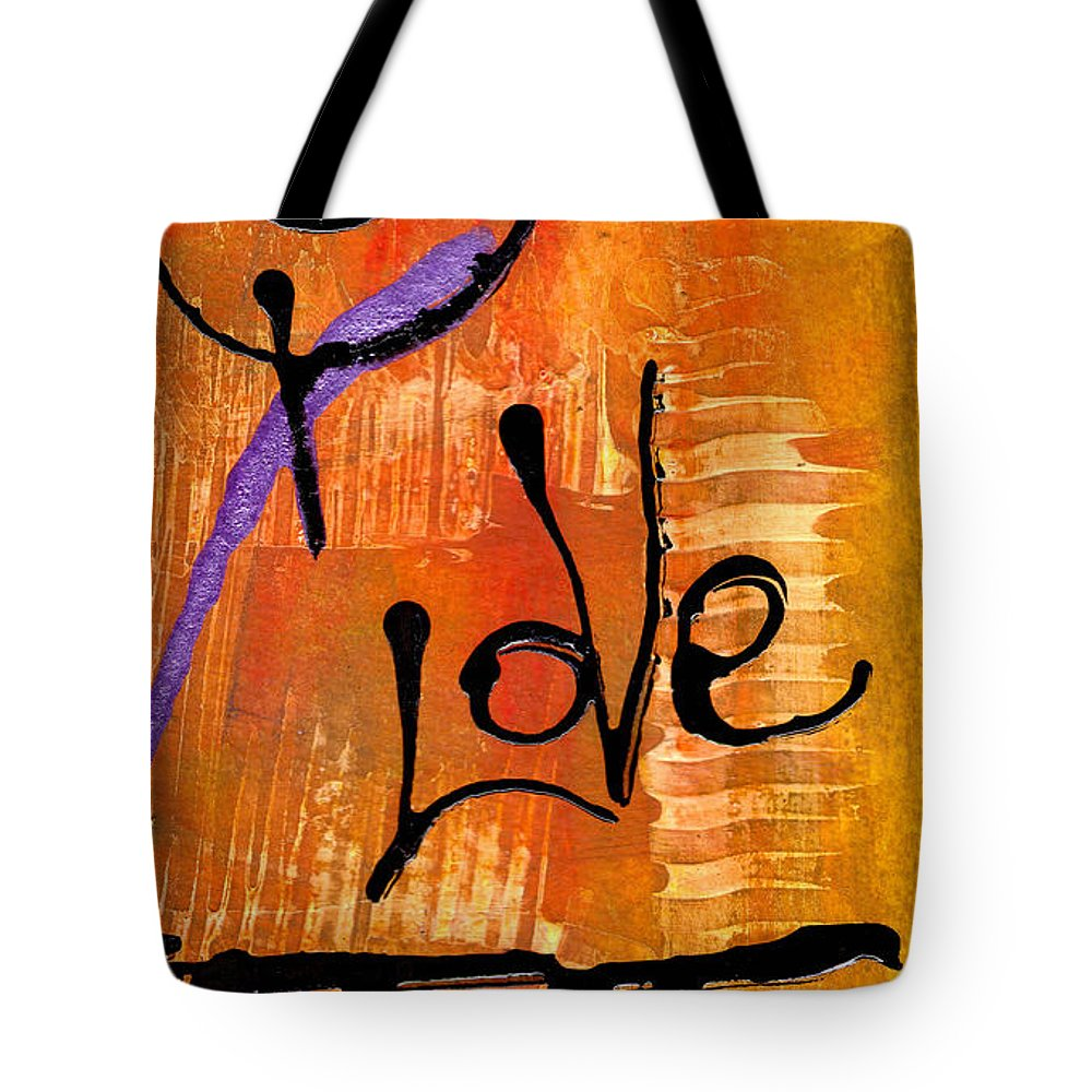 Spiritual Tote Bag featuring the painting A Whirlwind Called Love by Angela L Walker