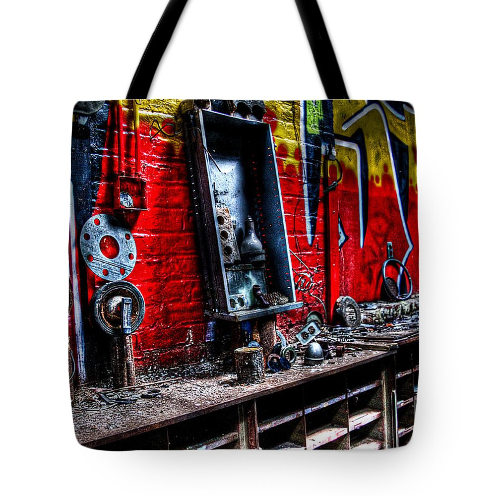 Fulton Gas Works Tote Bag featuring the photograph Abandoned In Richmond Virginia by Brenda Giasson