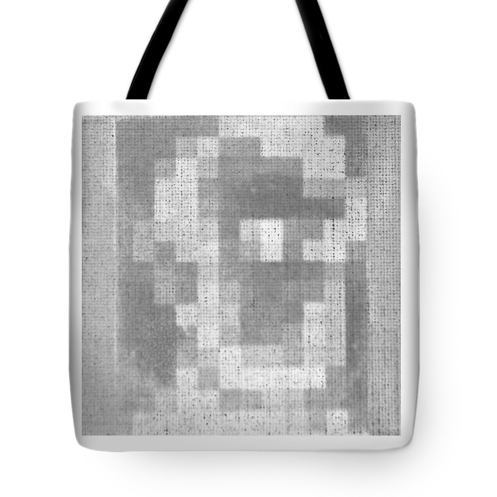 Black And White Tote Bag featuring the photograph Abe In Negative Black And Grey by Rob Hans