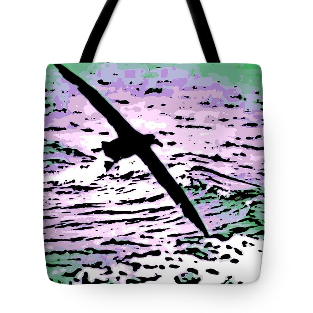 Flight Tote Bag featuring the photograph Above The Waves by George Pedro