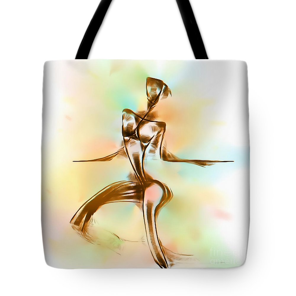 Graphics Tote Bag featuring the digital art Abs 0099 by Marek Lutek