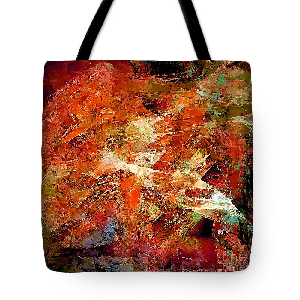 Graphics Tote Bag featuring the digital art Abs 0251 by Marek Lutek