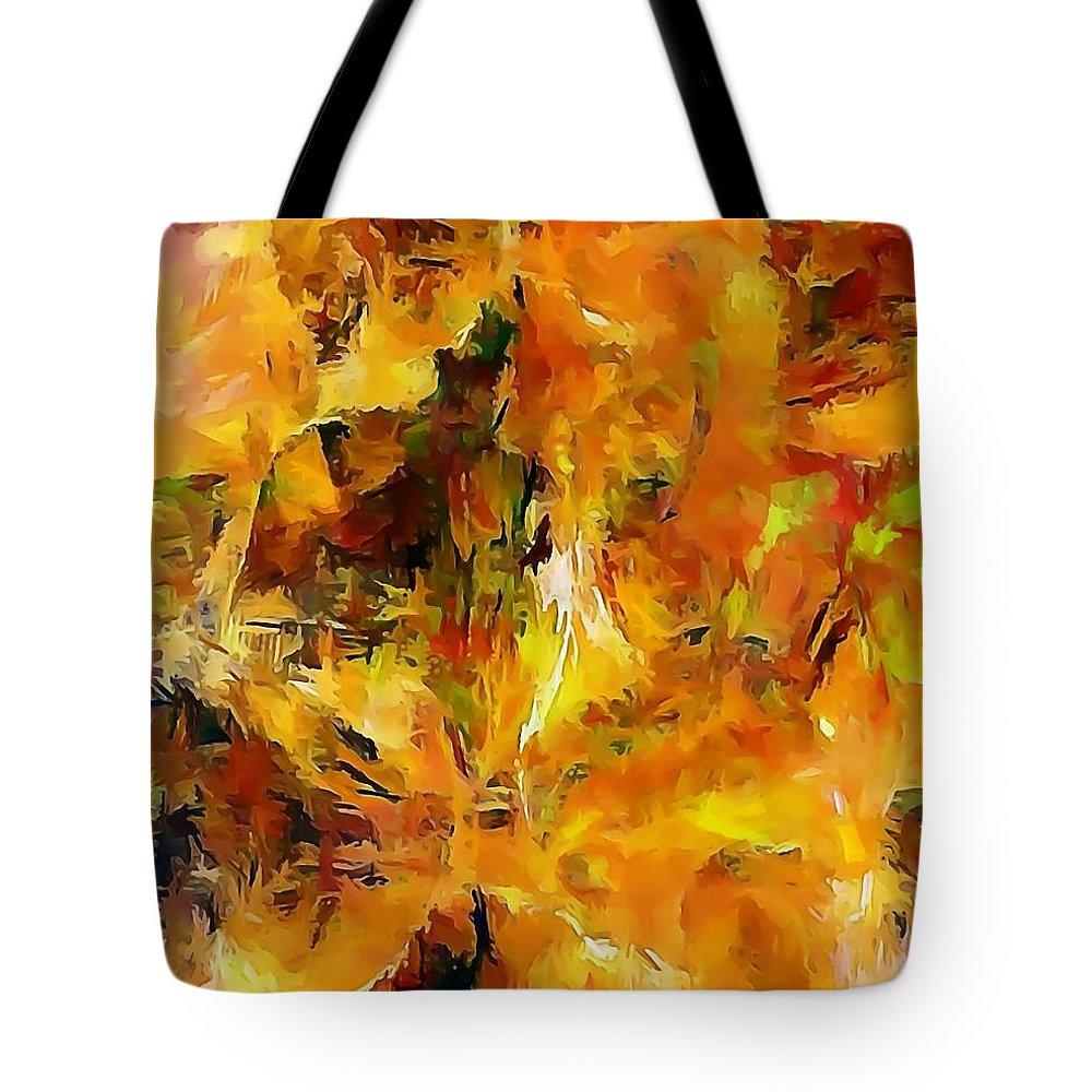 Graphics Tote Bag featuring the digital art Abs 0261 by Marek Lutek
