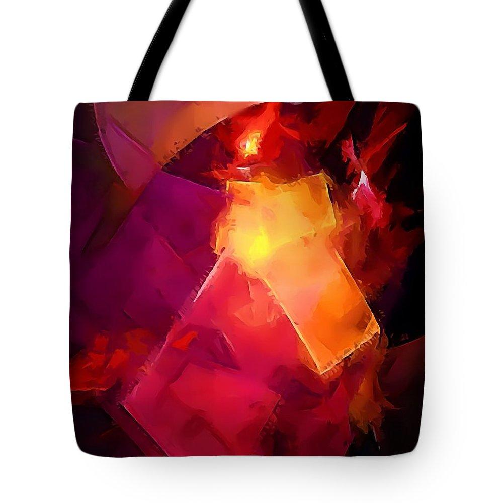 Graphics Tote Bag featuring the digital art Abs 0264 by Marek Lutek