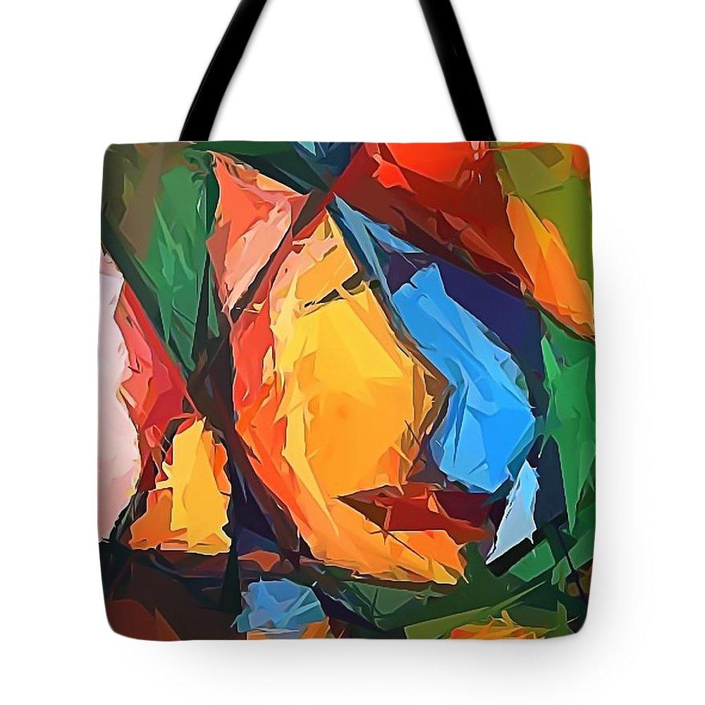 Graphics Tote Bag featuring the digital art Abs 0269 by Marek Lutek
