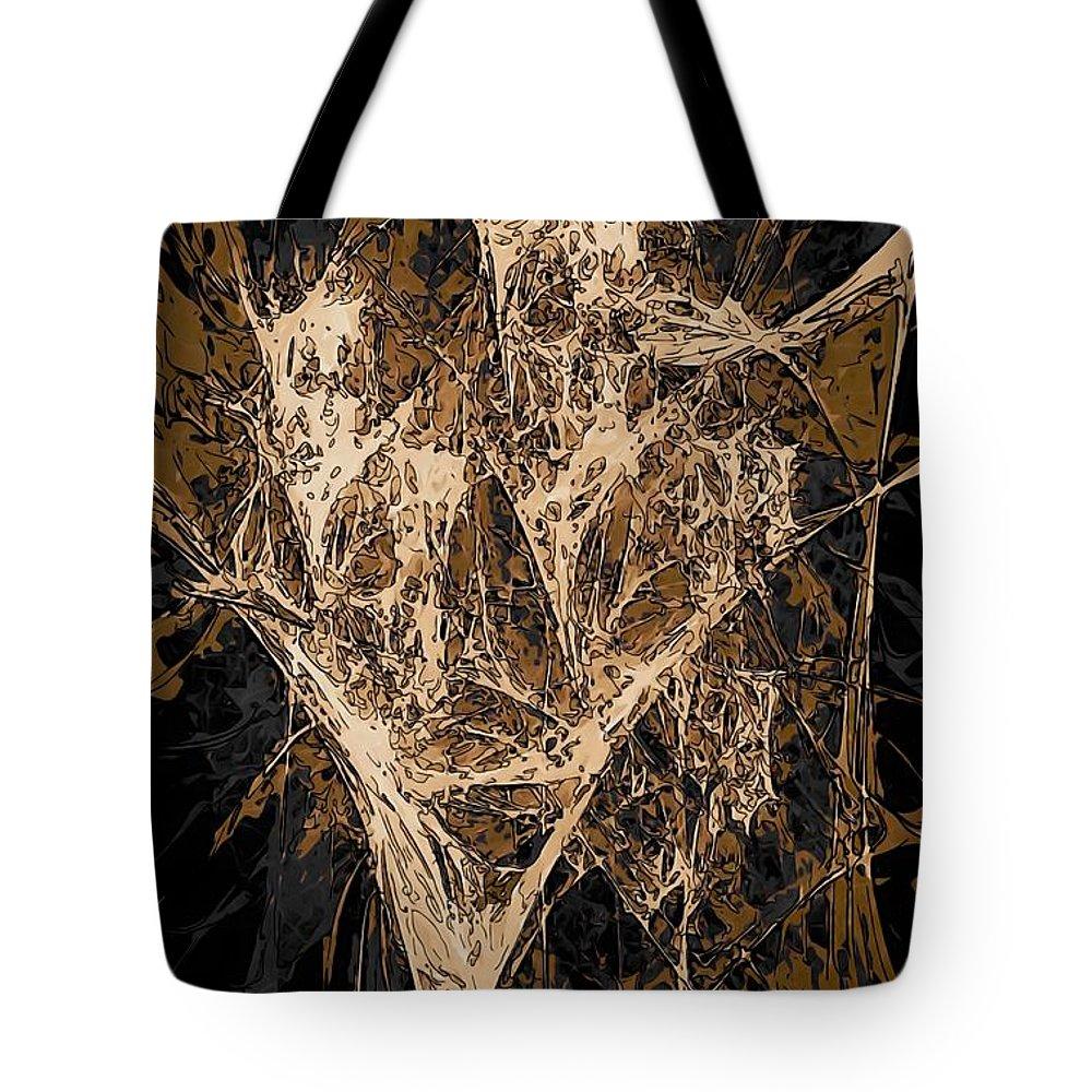 Graphics Tote Bag featuring the digital art Abs 0287 by Marek Lutek