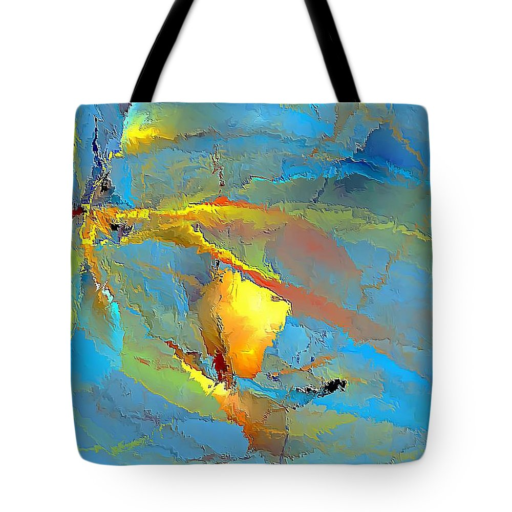 Graphics Tote Bag featuring the digital art Abs 586 - Marucii by Marek Lutek