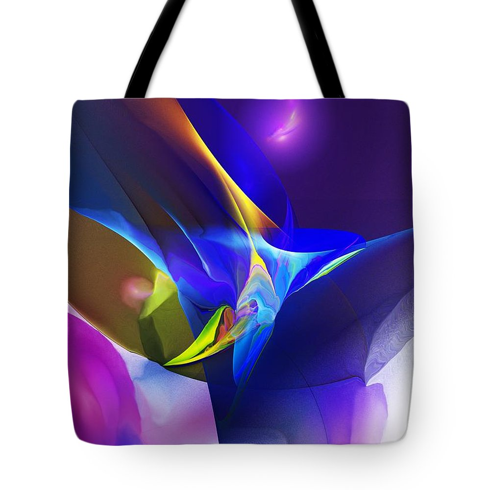 Fine Art Tote Bag featuring the digital art Abstract 091612 by David Lane