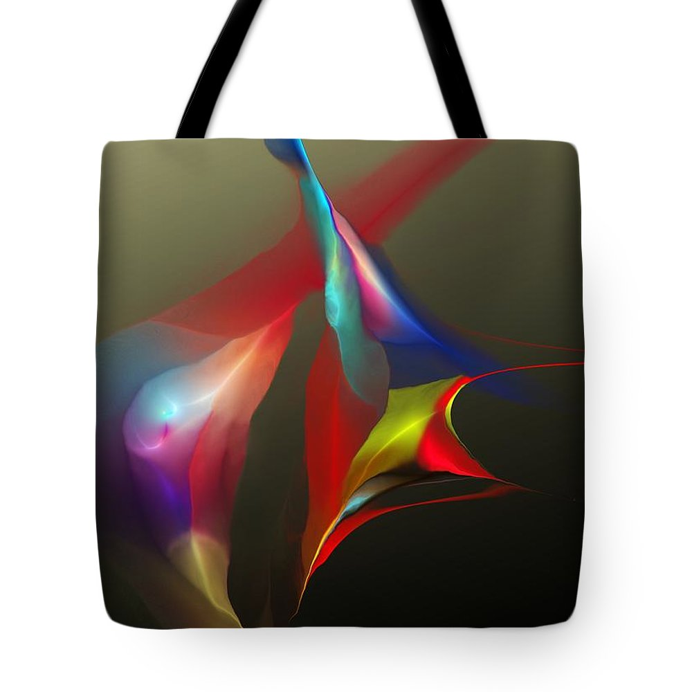 Fine Art Tote Bag featuring the digital art Abstract 091612a by David Lane