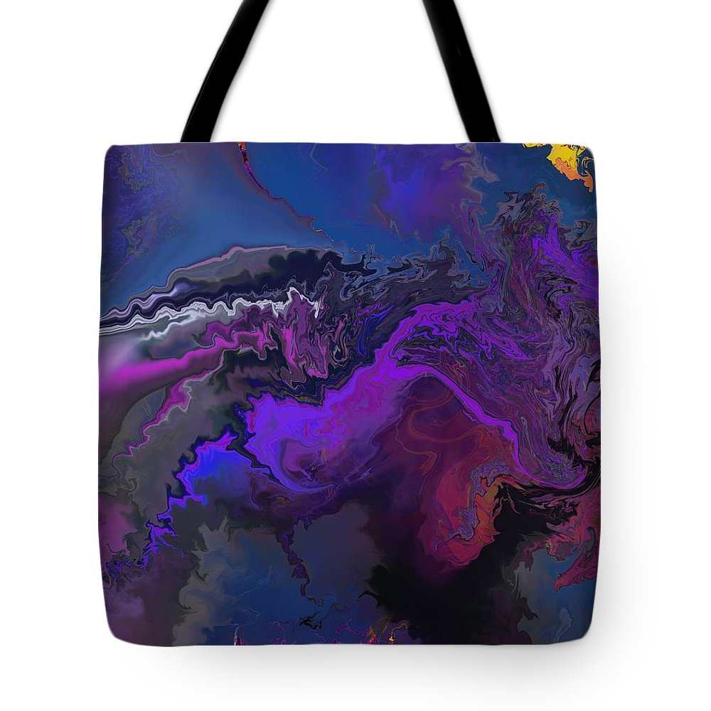 Fine Art Tote Bag featuring the digital art Abstract 112711a by David Lane