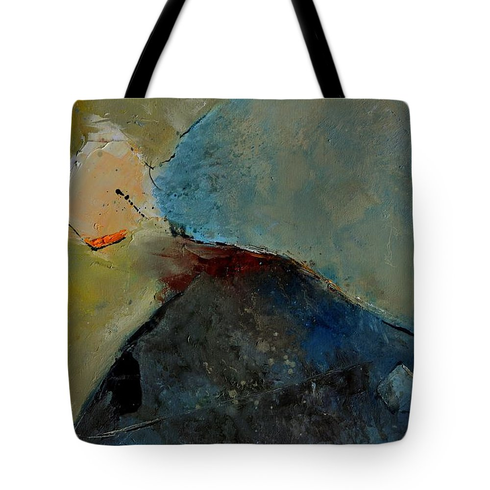 Abstract Tote Bag featuring the painting Abstract 170006 by Pol Ledent