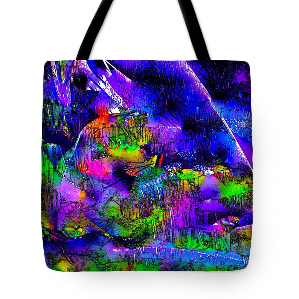 Abstract Tote Bag featuring the photograph Abstract 239 by Pamela Cooper