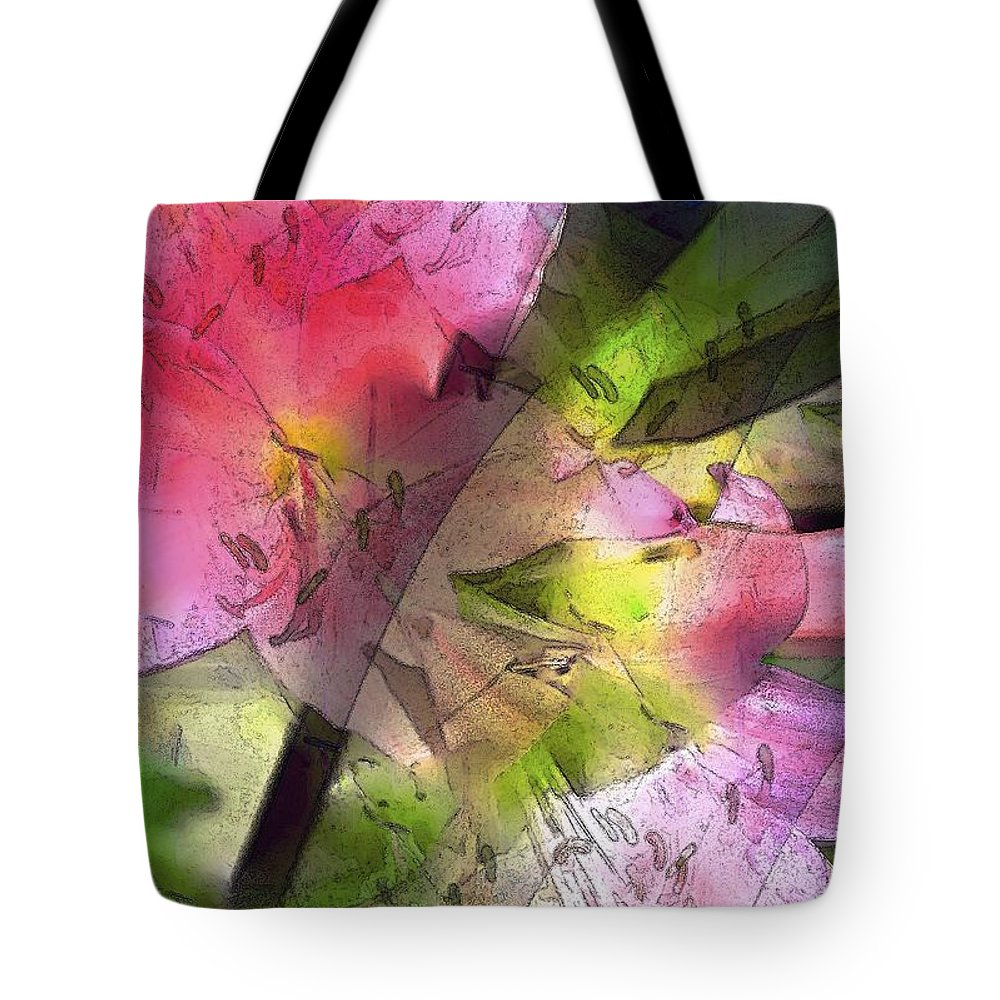 Abstract Tote Bag featuring the photograph Abstract 280 by Pamela Cooper