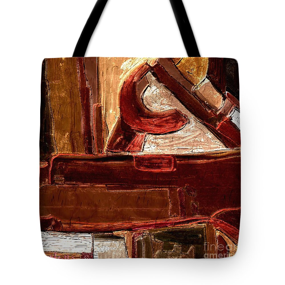 Paintings Tote Bag featuring the digital art Abstract 600 by Nedunseralathan R