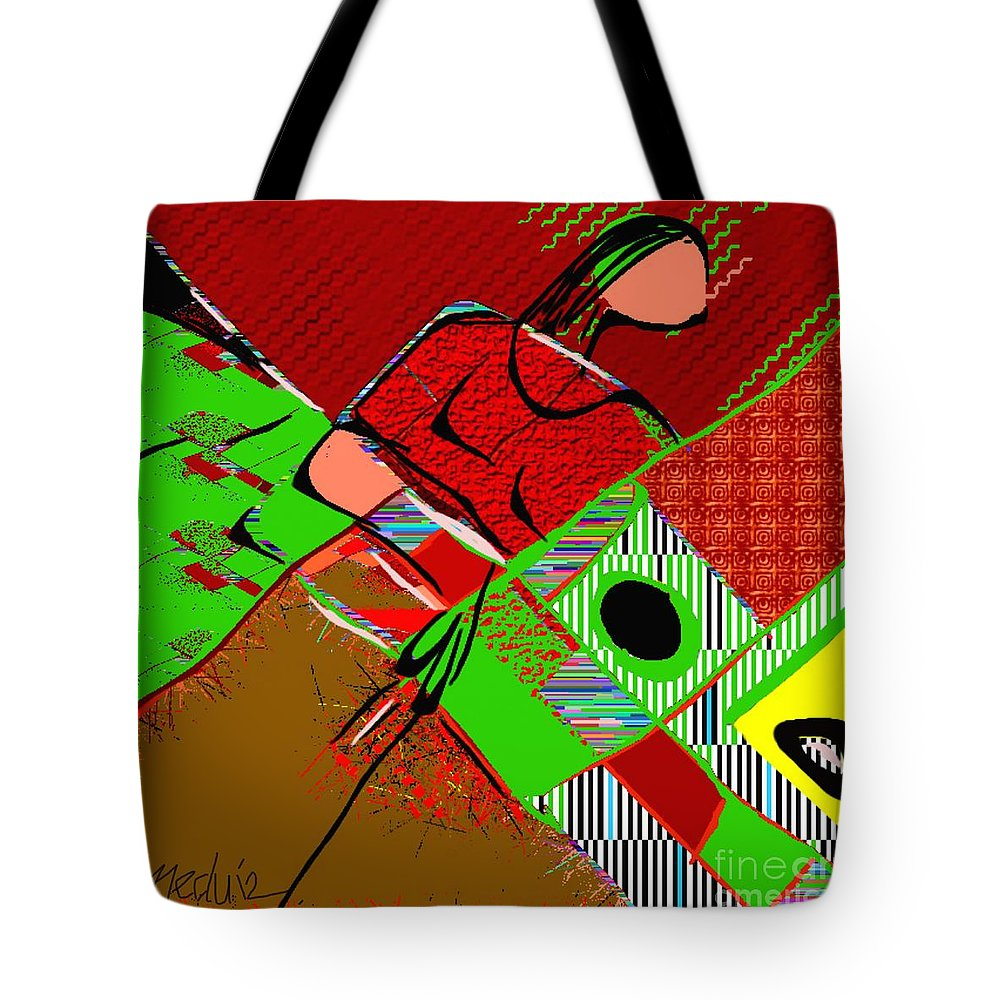 Paintings Tote Bag featuring the painting Abstract 629 by Nedunseralathan R