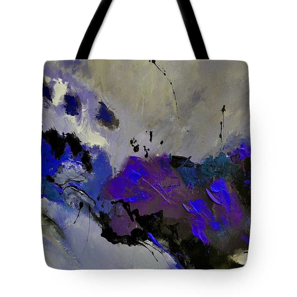 Abstract Tote Bag featuring the painting Abstract 69451223 by Pol Ledent