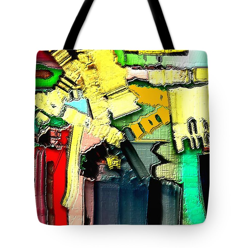 Paintings Tote Bag featuring the painting Abstract 733 by Nedunseralathan R