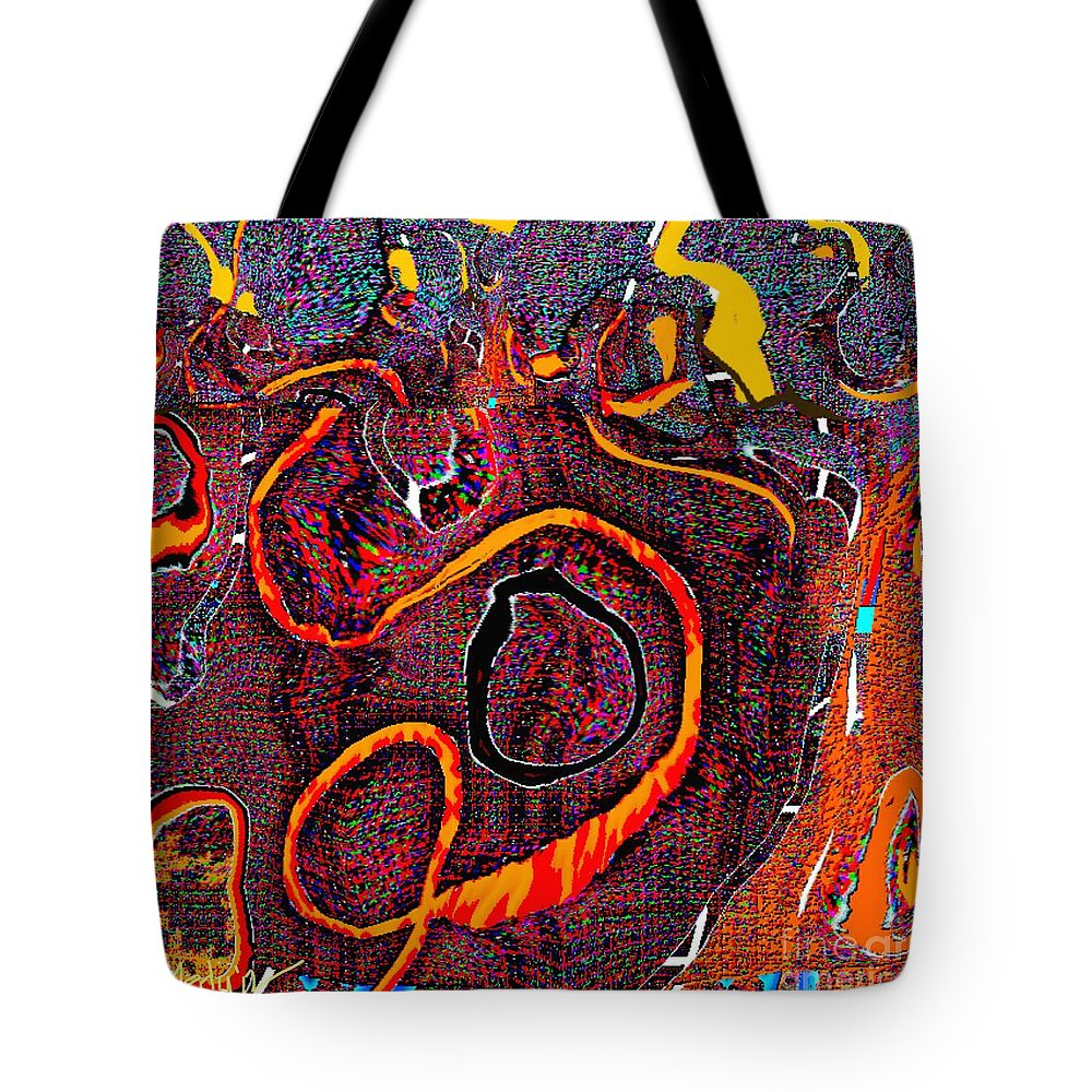 Paintings Tote Bag featuring the painting Abstract 734 by Nedunseralathan R