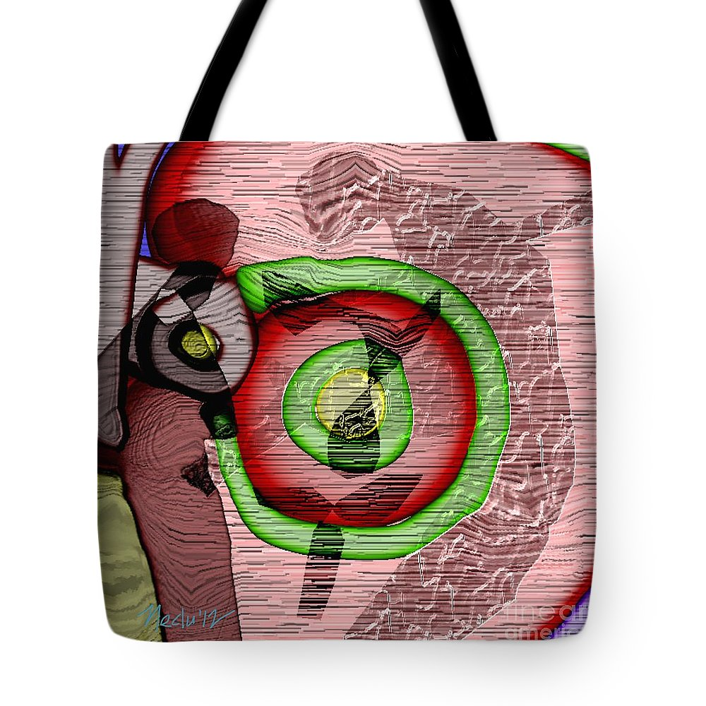 Paintings Tote Bag featuring the painting Abstract 823 by Nedunseralathan R