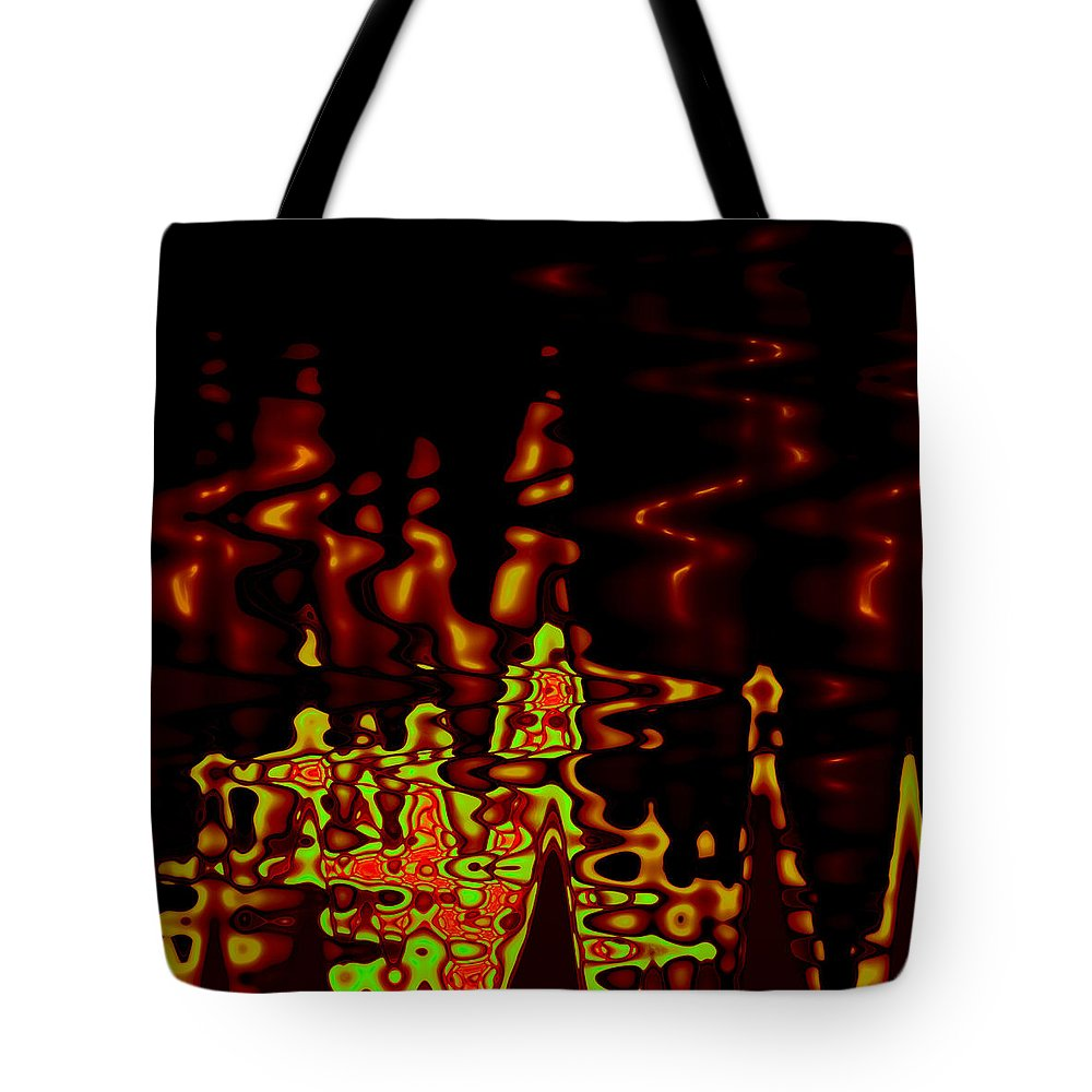 Tote Bag featuring the digital art Abstract Fractals 2 by Steve K