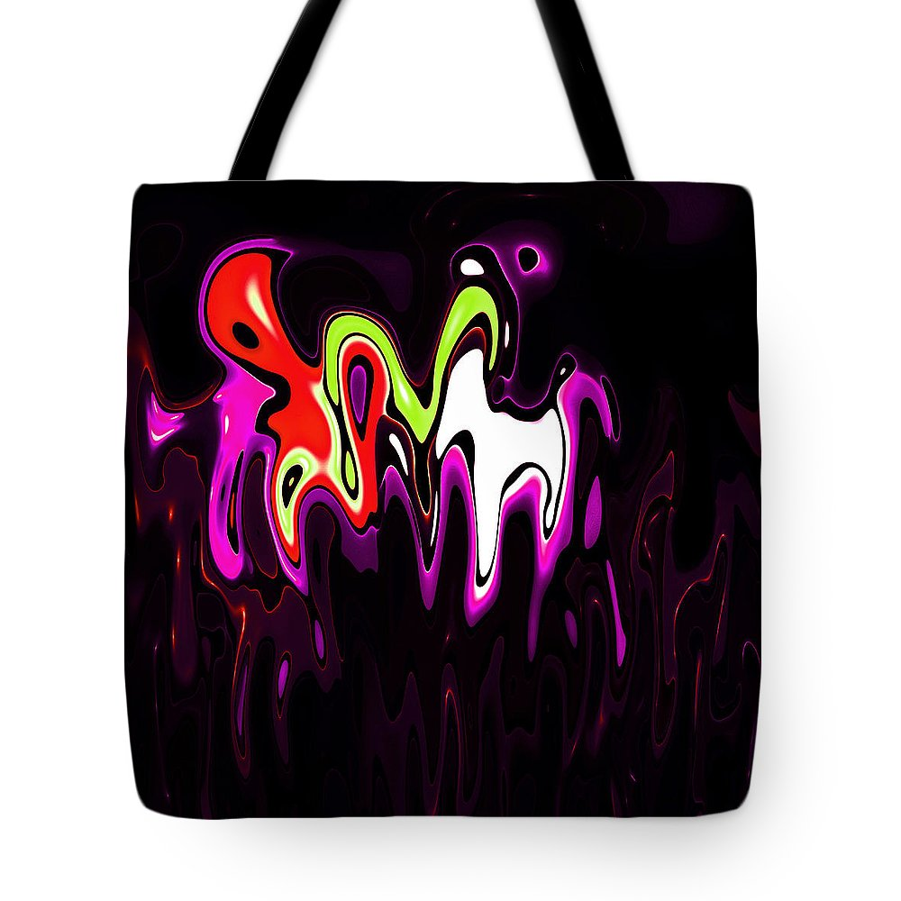 Tote Bag featuring the digital art Abstract Fractals Melting 3 by Steve K