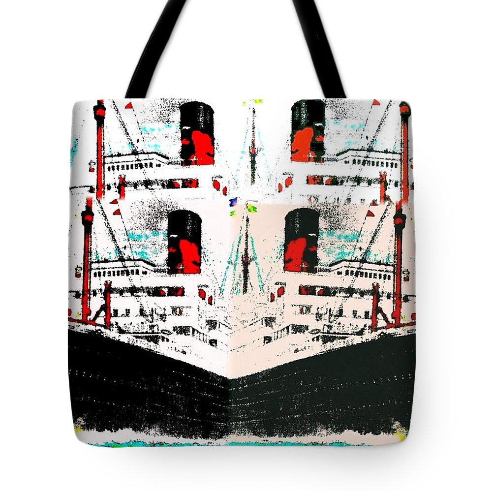 Abstract Fusion Tote Bag featuring the digital art Abstract Fusion 33 by Will Borden
