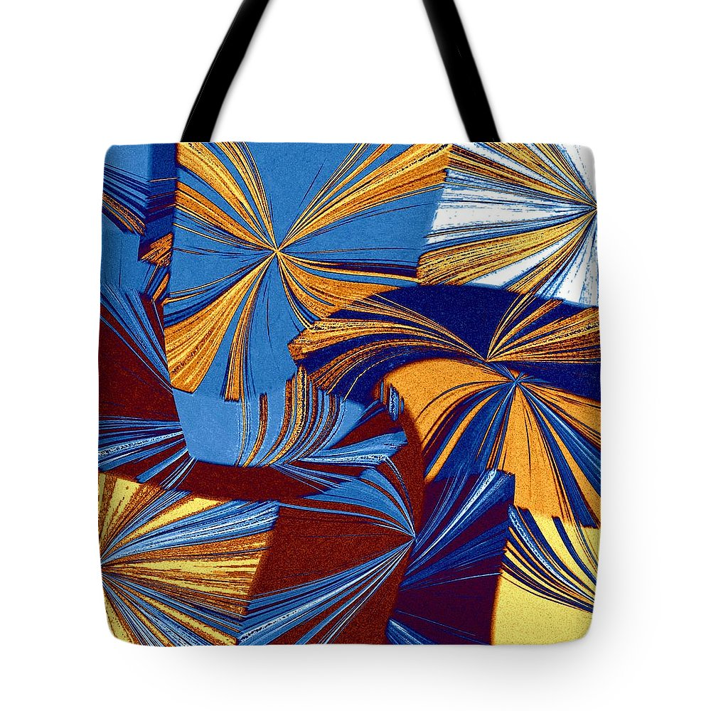 Abstract Fusion Tote Bag featuring the digital art Abstract Fusion 34 by Will Borden