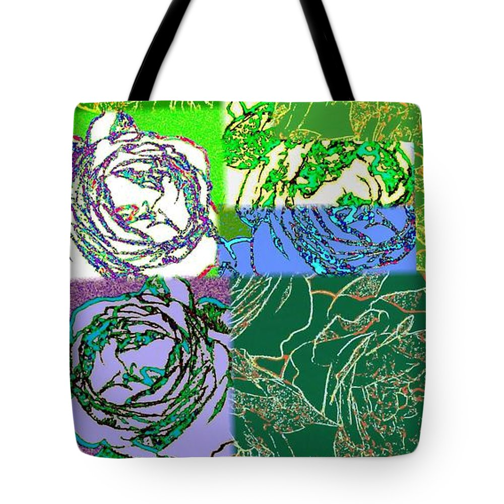 Abstract Fusion Tote Bag featuring the digital art Abstract Fusion 42 by Will Borden