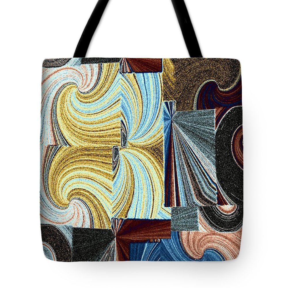 Abstract Fusion Tote Bag featuring the digital art Abstract Fusion 45 by Will Borden