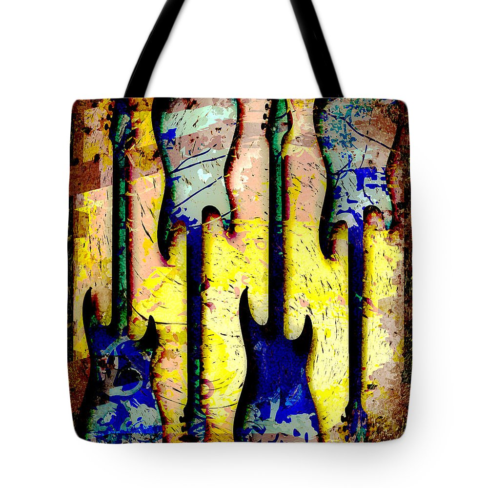Guitar Tote Bag featuring the photograph Abstract Guitars by David G Paul