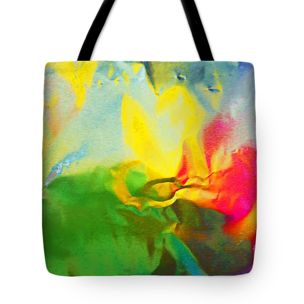 Abstract Photography Tote Bag featuring the photograph Abstract In Full Bloom by Regina Geoghan