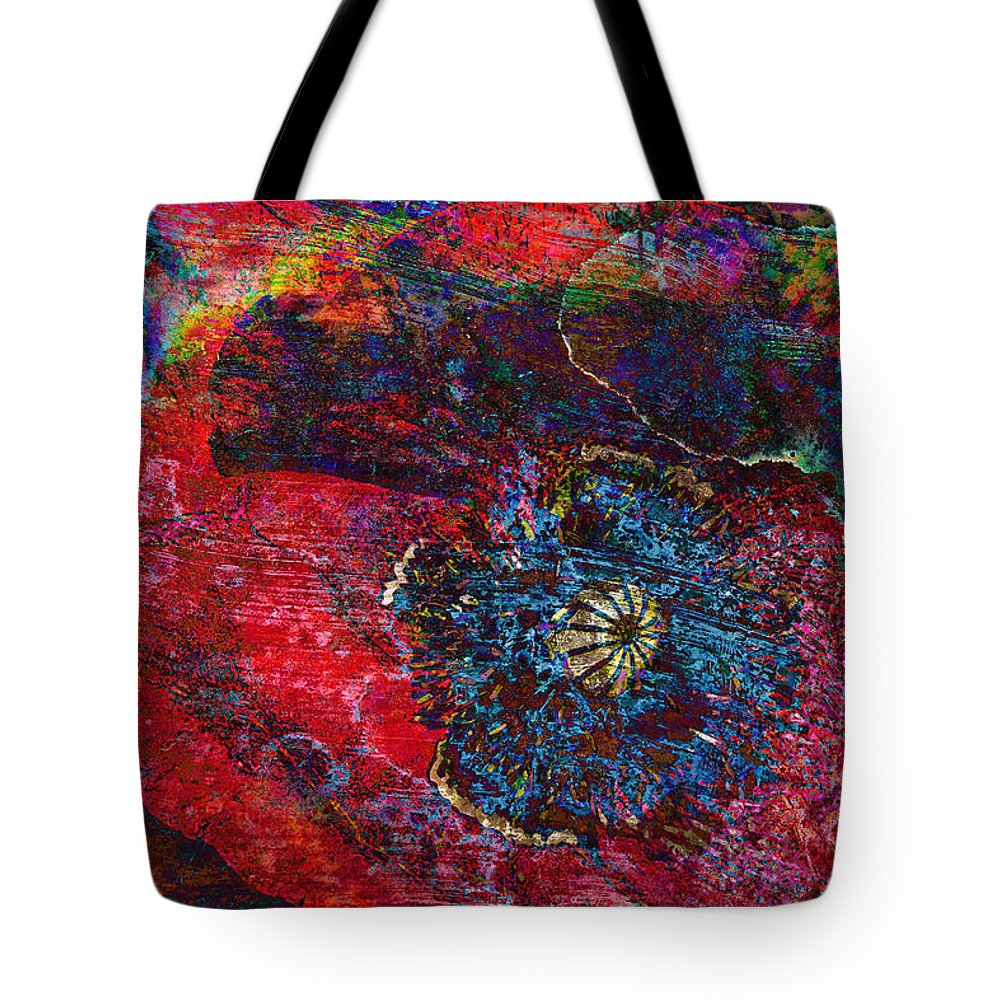 Poppy Tote Bag featuring the photograph Abstract Red Poppy by Phyllis Denton