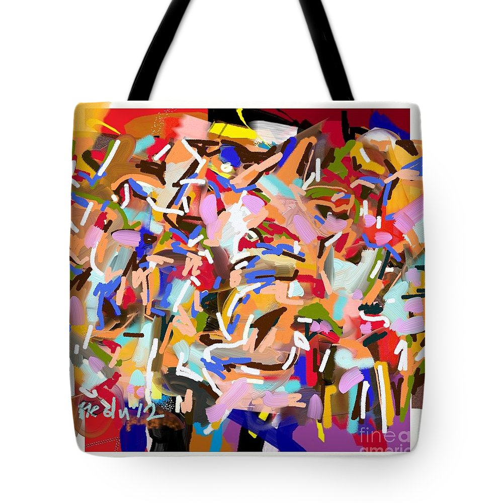 Art Online Tote Bag featuring the painting Abstract205 by Nedunseralathan R