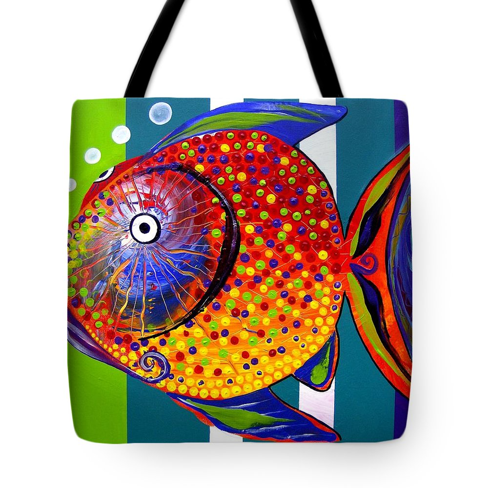 Acidfish Tote Bag featuring the painting Acidfish 60 by J Vincent Scarpace
