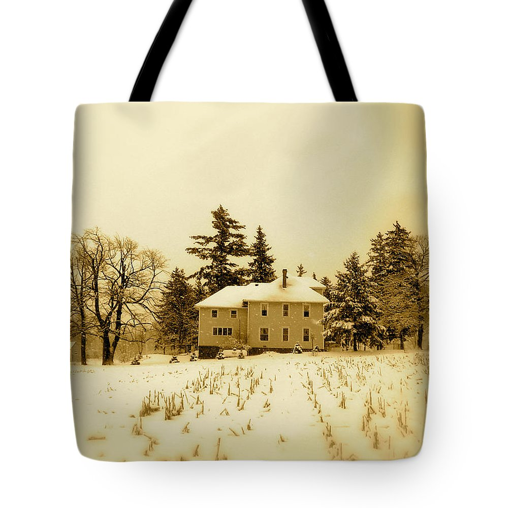 Landscape Tote Bag featuring the photograph Across The Cornfiled by Arthur Barnes