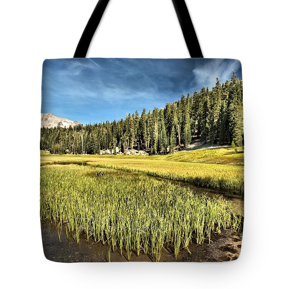 Lassen Tote Bag featuring the photograph Across The Meadow by Adam Jewell